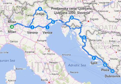 Italy Slovenia Croatia